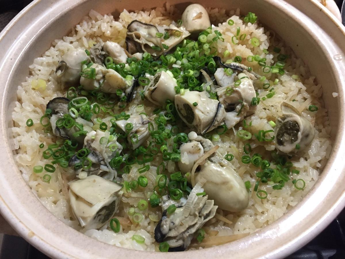 土鍋牡蠣ご飯